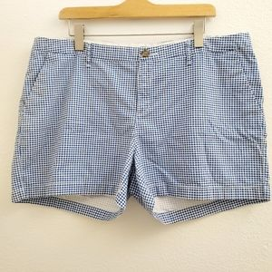 Old Navy Blue Gingham 100% Cotton Shorts SK41
